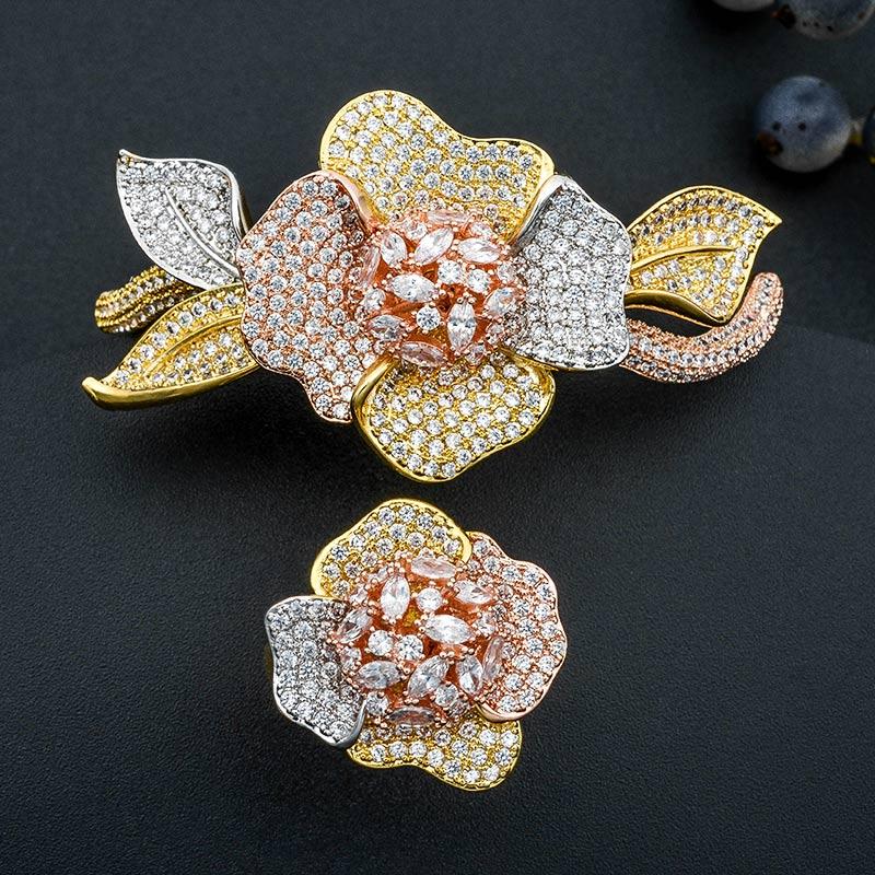 MoonTree luxe Disco Ball africain bracelet anneau ensemble de bijoux de mode ensembles pour les femmes de mariage fiançailles bracelet anneau bijoux ensembles-in Parures de bijoux from Bijoux et Accessoires    1