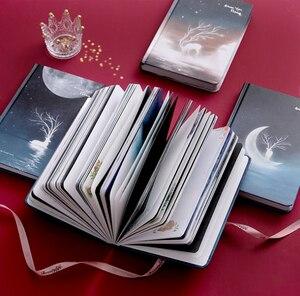 """Image 3 - """"פנאי חג"""" קשה כיסוי יומן יפה מחברת יומן פנקס שחור ניירות משלוח הערה מכתבים מתנה"""