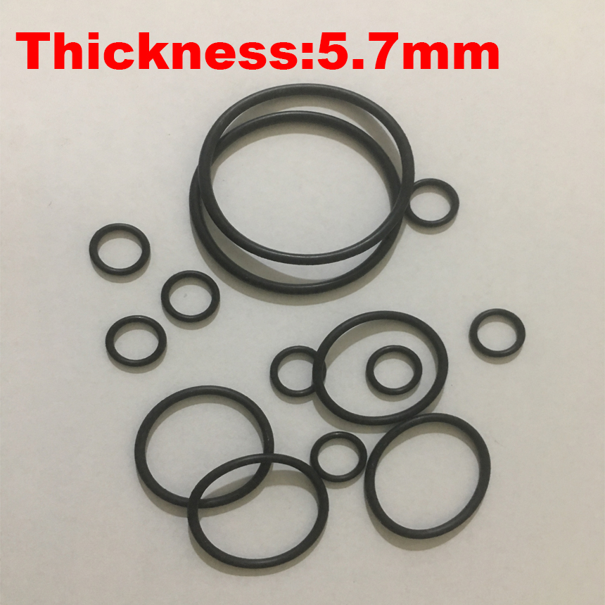 uxcell 50Pcs Black 17mm x 1.2mm Nitrile Rubber O Ring NBR Oil Sealing Grommets