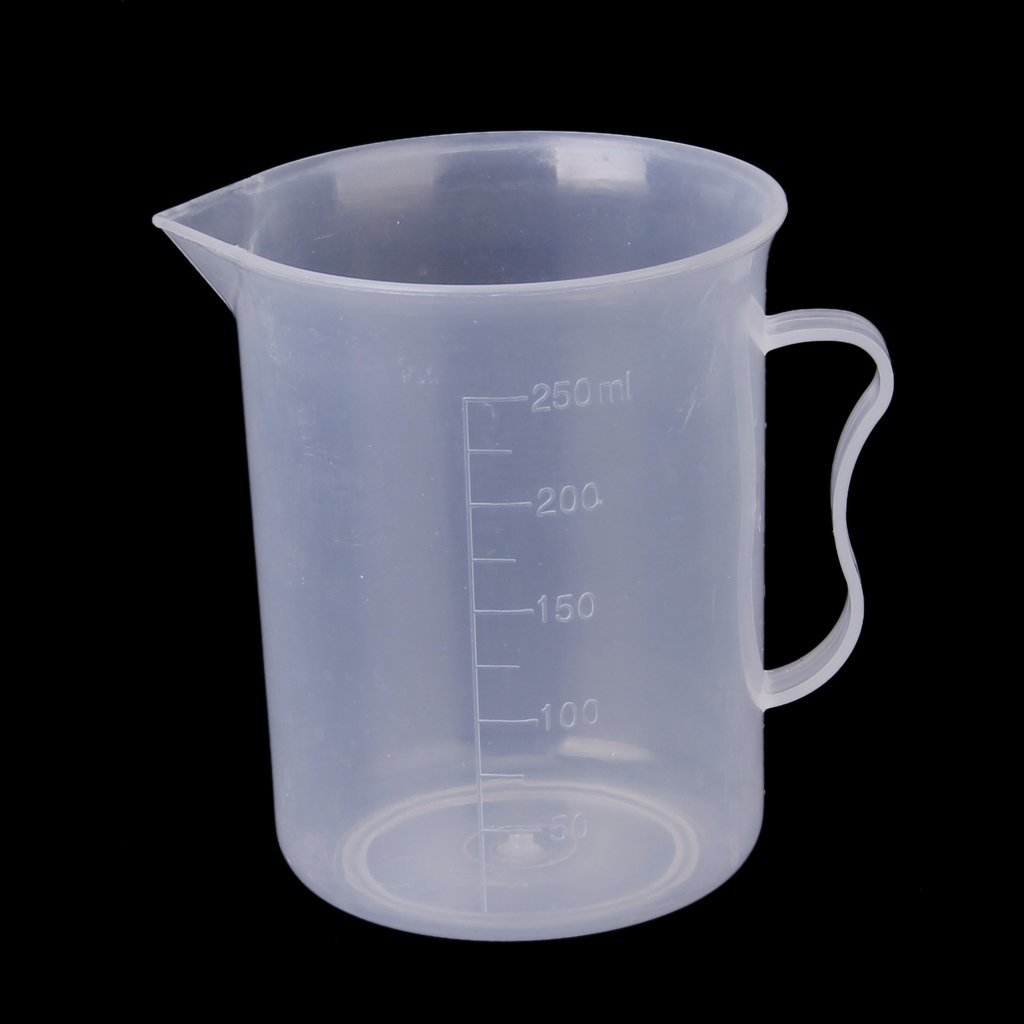 Affordable 250 Ml Transparent Plastic Measuring Cup With Handle