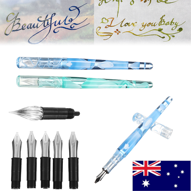 1pc Signature Pen Ink Dip Pen with 5 pen nibs student Stationery pen Simple office Supplies1pc Signature Pen Ink Dip Pen with 5 pen nibs student Stationery pen Simple office Supplies