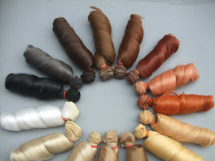15 cm el yapımı dalgalı bebek peruk/SD AD 1/3 1/4 1/6 bjd bebek diy Saç blythe doll için BJD bebek peruk