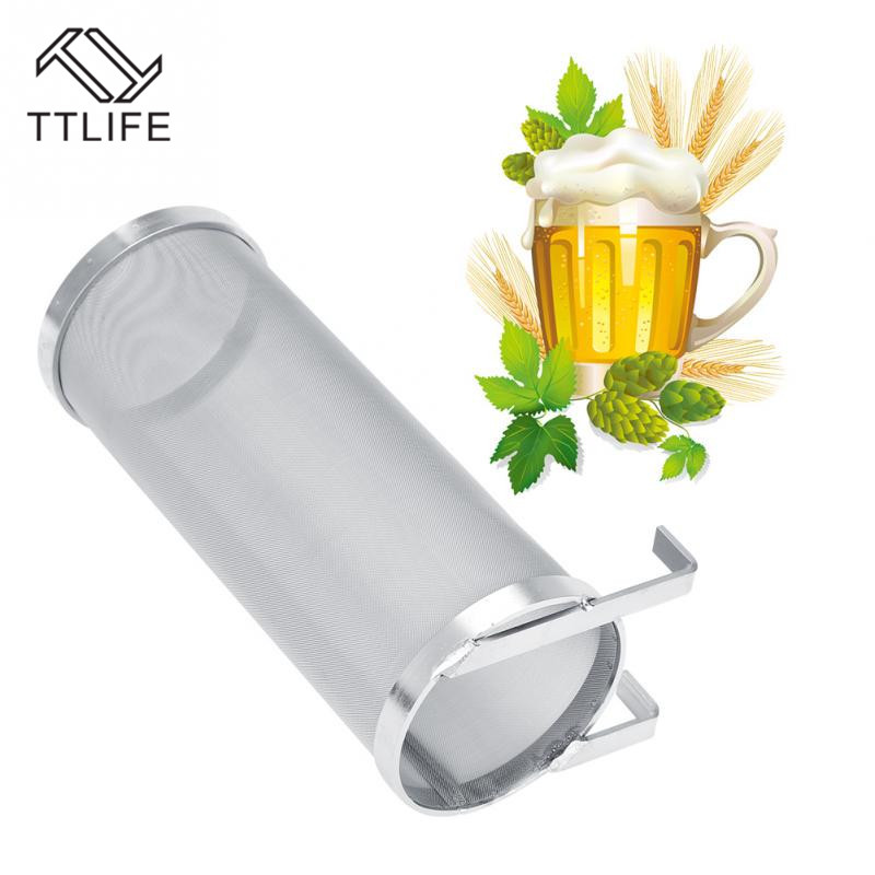 TTLIFE 300 Micron Stainless Steel Homebrew Brew Beer Hop Spider Mesh Filter Strainer With Hook Reusable Brewing Bar Accessories