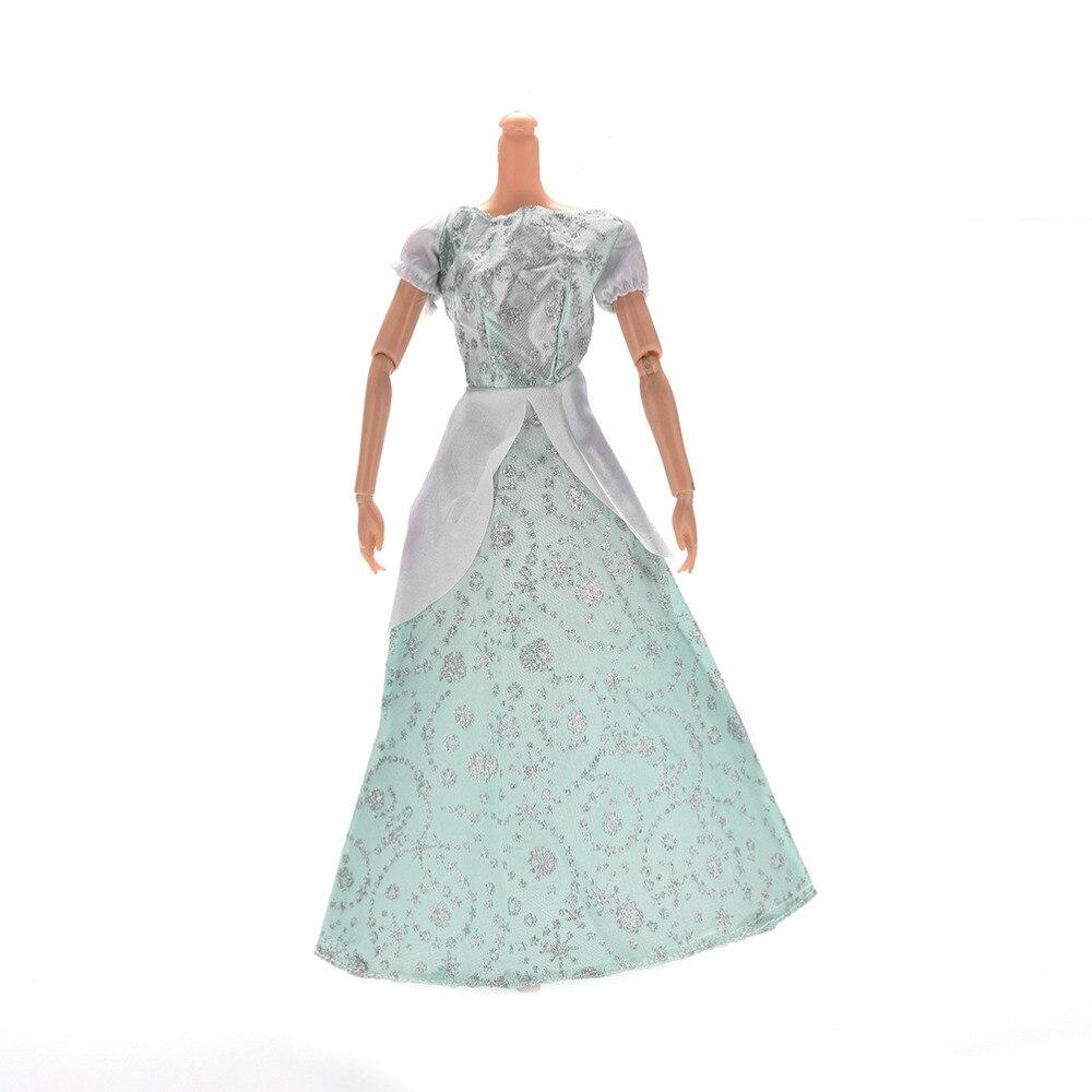 1 unids princesa gris claro vestido de novia para Barbies Cenicienta ...