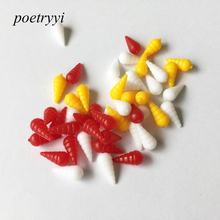 POETRYYI 10Pcs/20pcs/Lot 1.2cm Soft with screws smell carp Fishing Lures Floating baits Wobbler pesca Tackle 30