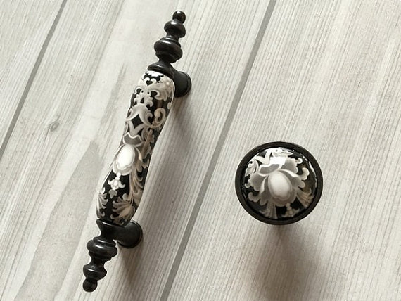 3 Ceramic Knob Dresser Knobs Pull Drawer Pulls Handles White Gray Antique Black Kitchen Cabinet Pulls Door Handle Knob Retro Mo 5 drawer knobs pull handles dresser knob pulls handles antique black silver furniture hardware kitchen cabinet door handle pull