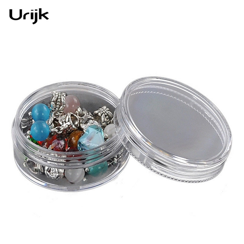 Urijk Portable Acrylic Transparent Jewelery Stud Earring Display Box Wedding Jewelry Package Box Beads Organizers