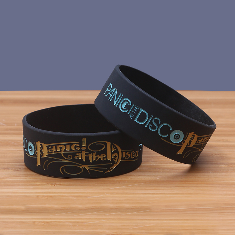 At The Disco Silicone Bracelets Pop Rock Band Silicon Wristband Cool Fashion Item Por Jerwerly In Charm From Jewelry Accessories On