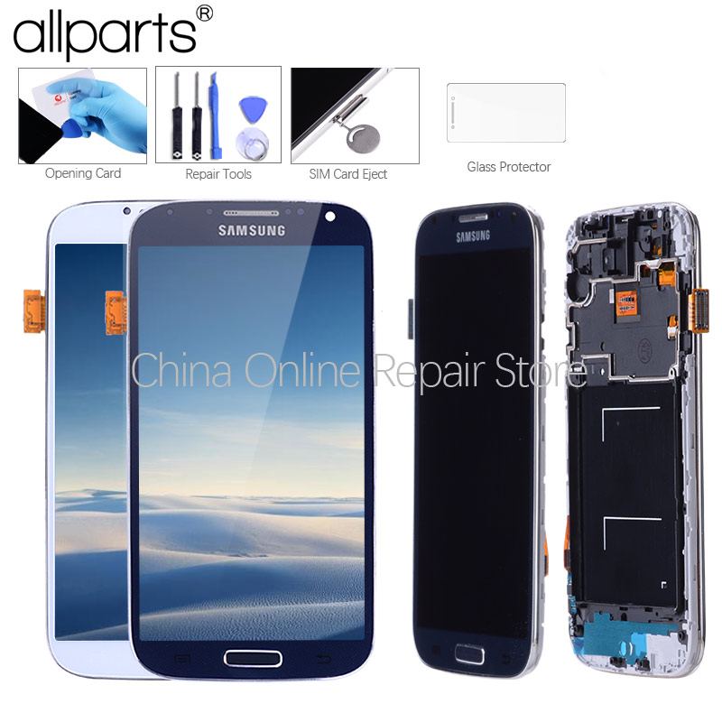 5,0 ''Super IPS LCD für SAMSUNG Galaxy S4 Display LCD mit Rahmen GT-i9505 i9500 i9505 i337 i9506 i9515 Touch screen Digitizer
