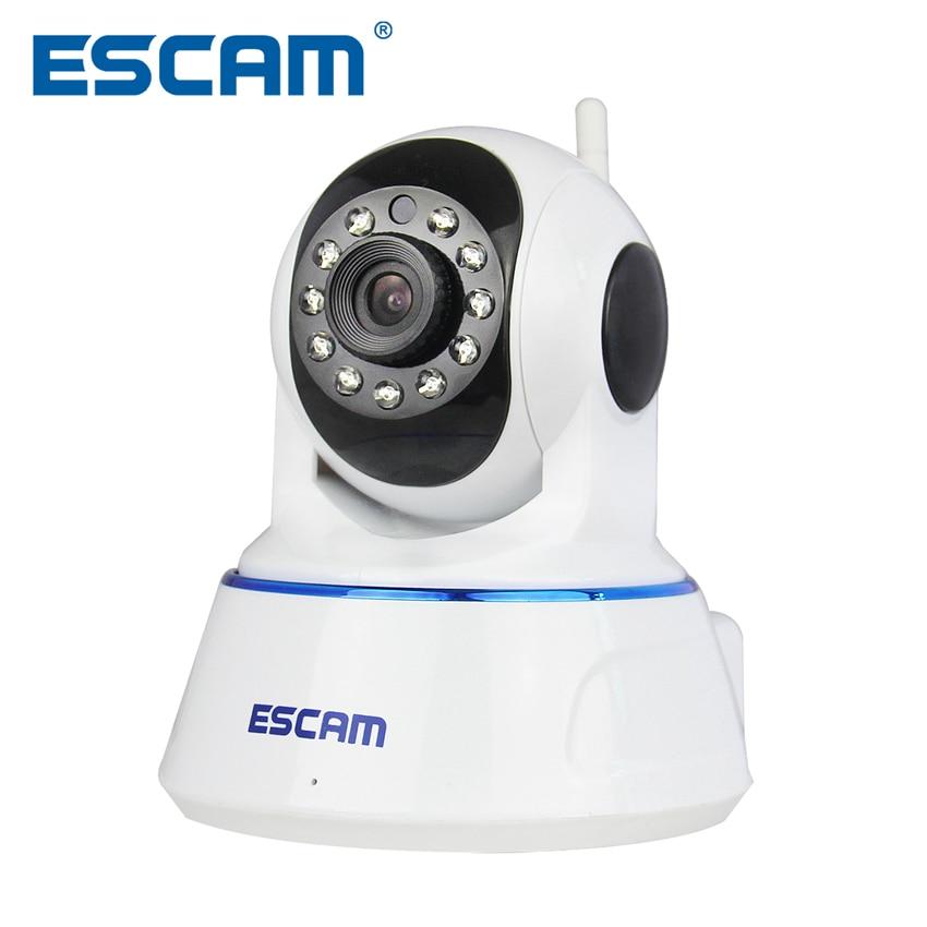 Escam QF002 HD 720P Wireless IP Camera Day Night Vision P2P WIFI Indoor Infrared Security Surveillance CCTV Mini Dome Camera 3pcs escam hd3100 1080p ip surveillance camera ir range 20m 2 0 megapixel waterproof day night 24 infrared led night vision