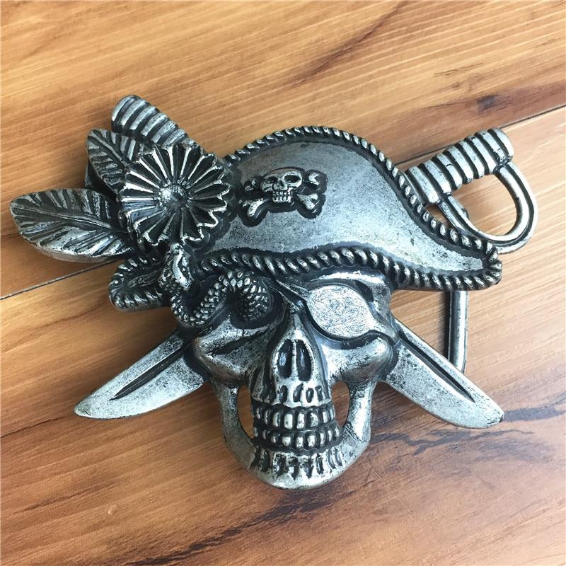 Hot Sell Full Alloy Skull Belt Buckle For Men Jeans Belt Ceinture Homme Diy Accessories Male Belt Buckle AK0031