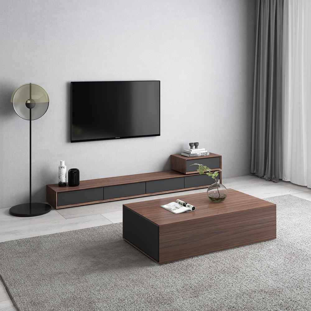 tea table wooden design living room tv monitor stand mueble marble leather oval edge cabinet tv stand table coffee centro table