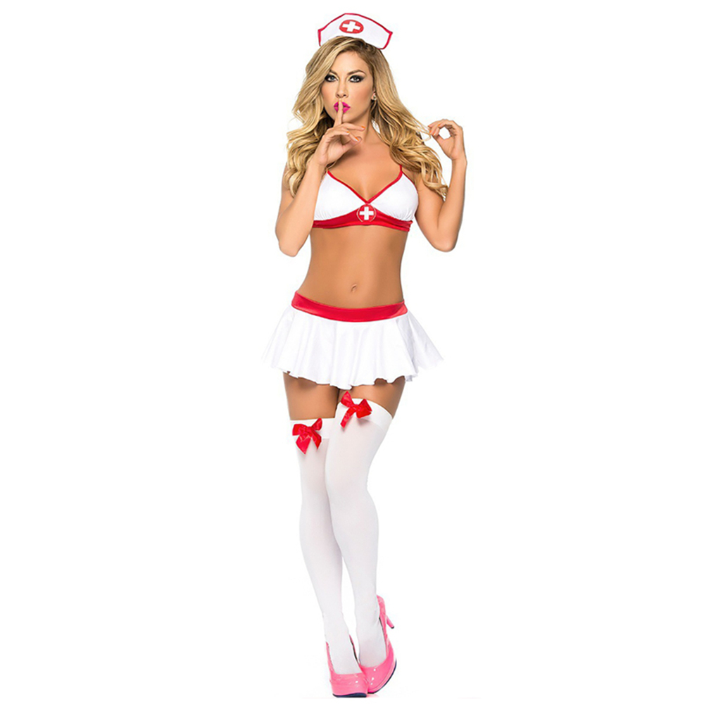 New Porn Women Babydoll Underwear Chemises Lingerie Sexy Hot Erotic Sexy Uniform Nurse Cosplay Sexy Costumes Halloween Role Play