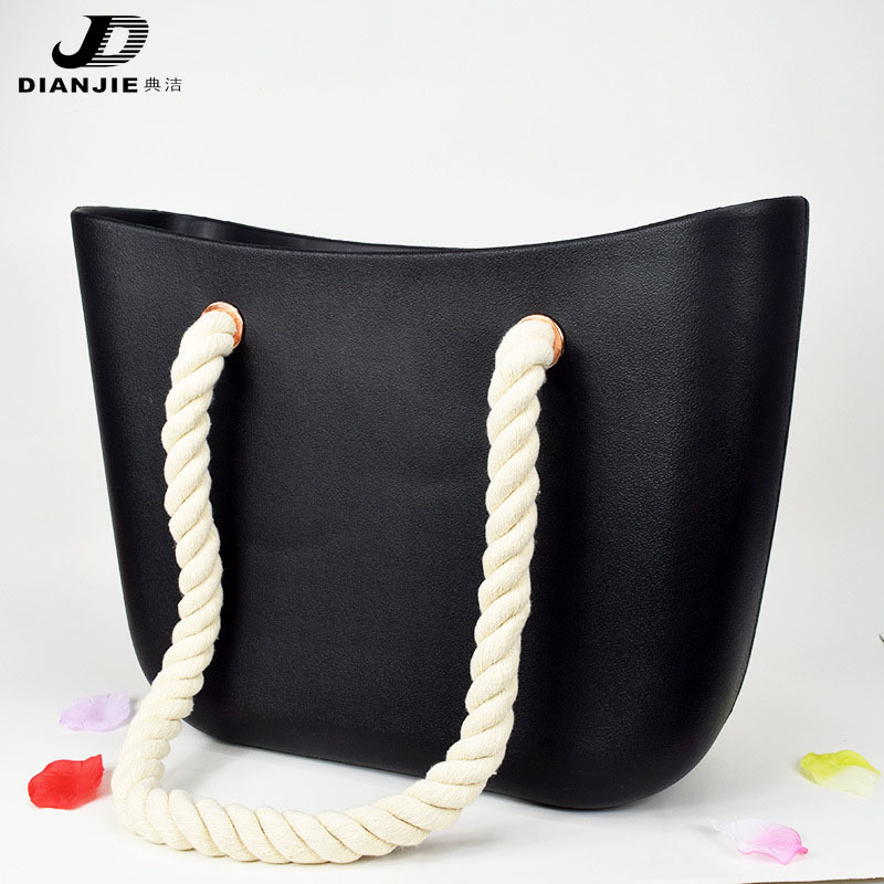 DIANJIE New Hot Sale Cnady Color High Quality EVA Casual Tote Women Shoulder Beach Handbag Solid Zipper Type Women Hand Bags