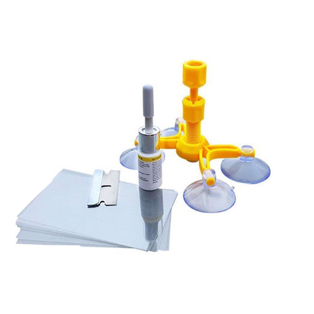 Windscreen Fix Tool Set Glass Windscreen Repair Windshield Repair Kit Glass Repair Tool Window Polishing Set