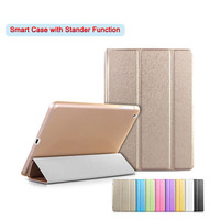 Protable Silk Leather Flip Smart Case For Apple Pad 234 5 Air 1 6 Air 2