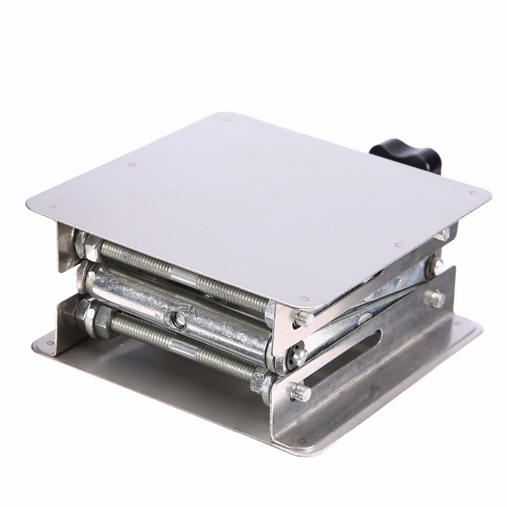 1pc Laboratory Lifting Platform High Quality Stainless Steel Lab Scissor Stand Rack 100*100mm купить