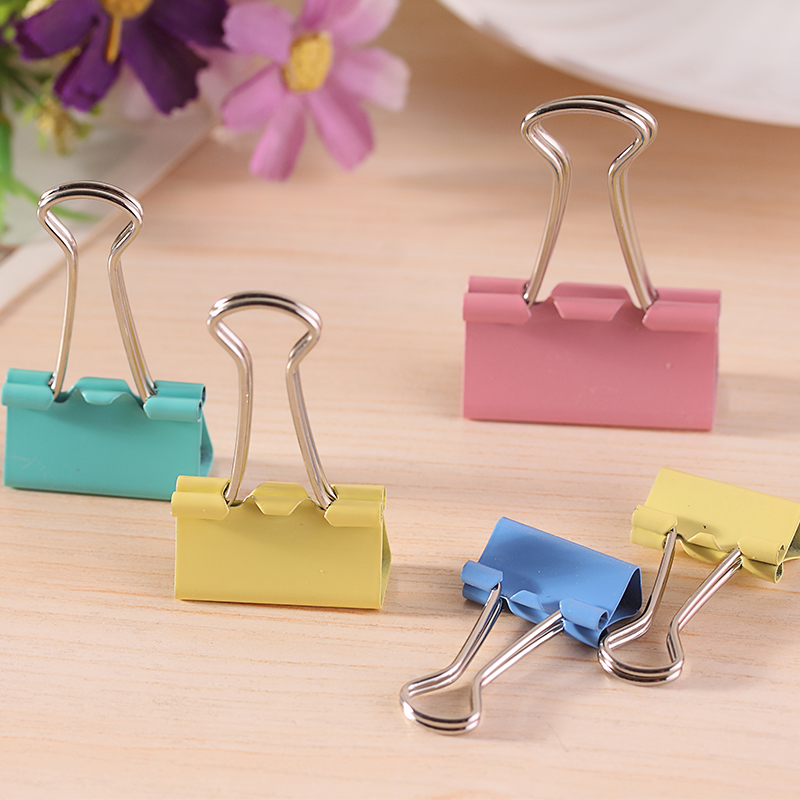 20pcs Colorful Metal Binder Clips Paper Clip 25mm Office Learning Stationary Office Material School Supplies