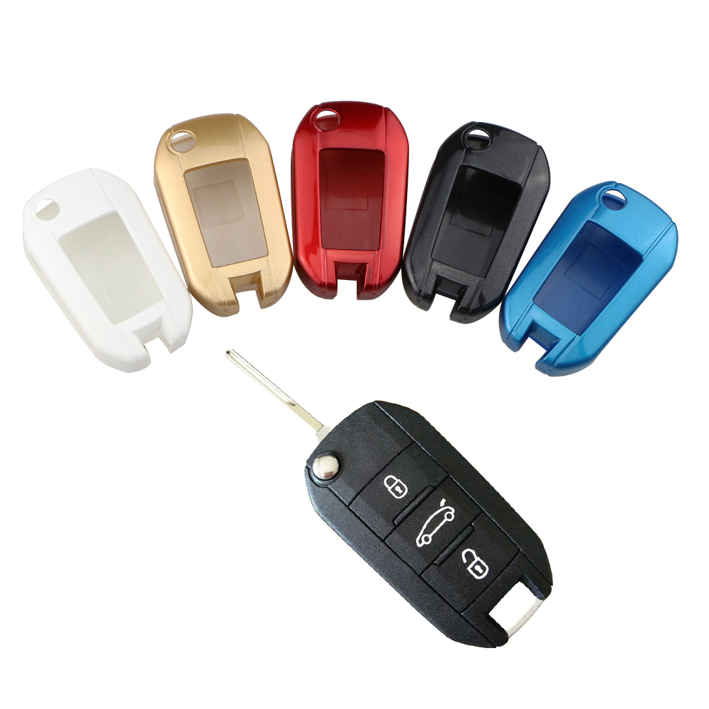 Carmilla 3 Buttons Car Remote <font><b>Key</b></font> Case <font><b>Cover</b></font> Shell Fob Fit for <font><b>Peugeot</b></font> 208 308 508 3008 <font><b>5008</b></font> Car Accessories <font><b>Keys</b></font> Protector image