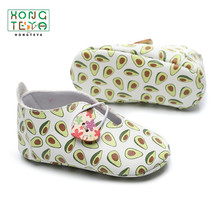 Toddler Shoes Newborn Moccasins Anti-Slip Soft-Soled Infant Baby-Girl Bottom Red PU