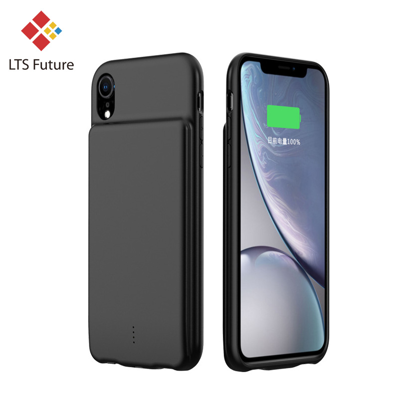 Аккумулятор резервного питания чехол для iPhone XR/Xs Max 5000 мАч батарея чехол для телефона Тонкий высокой емкости портативный - Цвет: Black for iPhone XR