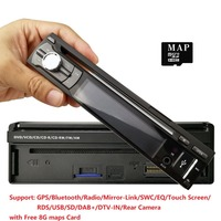 universal 1 one Din 7inch Touch Screen Car DVD Player Radio GPS Navigator 1din Audio Car Stereo DVD FM radio SWC DAB BT DVBT SD