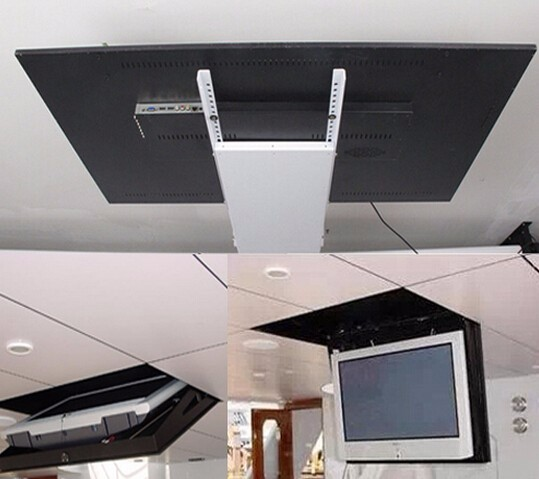 2017 motorized electric hidden flip down false ceiling led for Motorized flip down tv mount