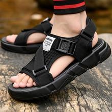 AKEXIYA Men's Sandals 2019  Gladiator Men's Sandals New Roman Men's Shoes Summer Gray Black Fashion Flat Sandals black fashion jewelry embellished flat sandals