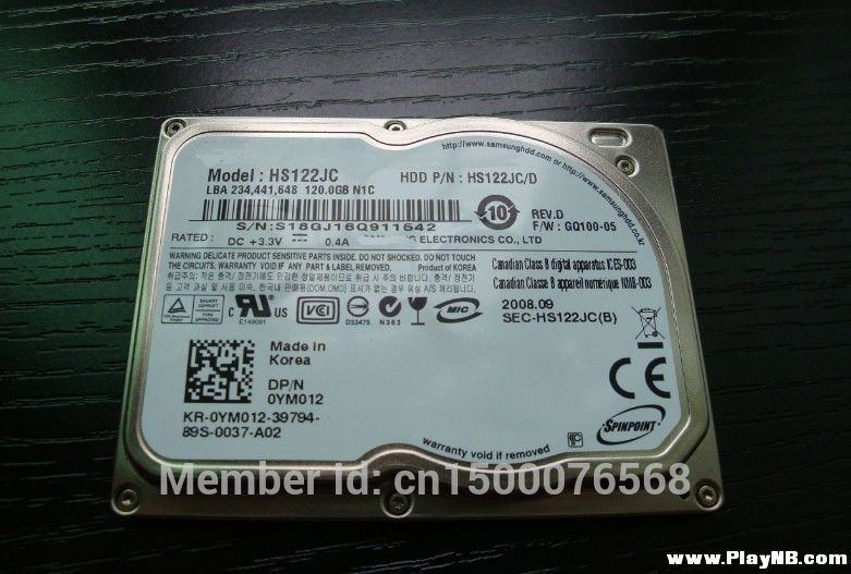 NEW 1 8 120GB CE ZIF HS122JC HDD for XT1 d430 d420 2510P 2710P VGN TZ