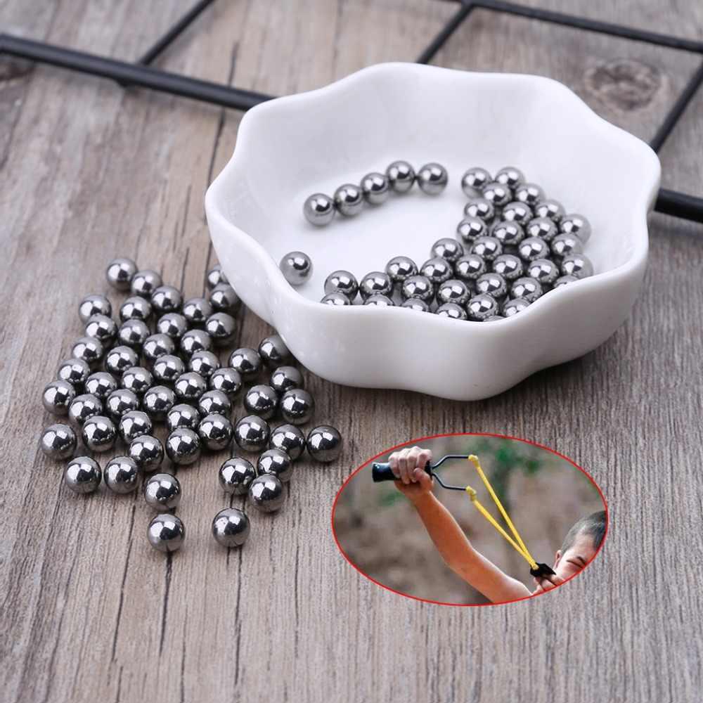 1 sacchetto di Slingshot Acciaio Inox Bead 4/5. 5 millimetri Perline Professionale Tattico Catapulta di Caccia Esterna di Tiro Potente 100pcs Forniture