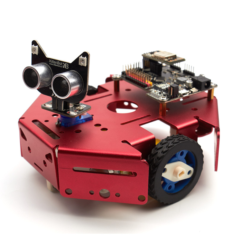 US $179 49  KittenBot Basic Robot kit DIY Robot STEM Toy Scratch 3 0 &  Arduino Python Program Programmable Robot Kit to Coding Robotics-in Action  &