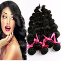 9A Peruvian Virgin Hair Loose Wave 5 Bundles Remy Queen Wavy Hair Unprocessed Peruvian weave Curly  Nice Hair Soft Thick , Full