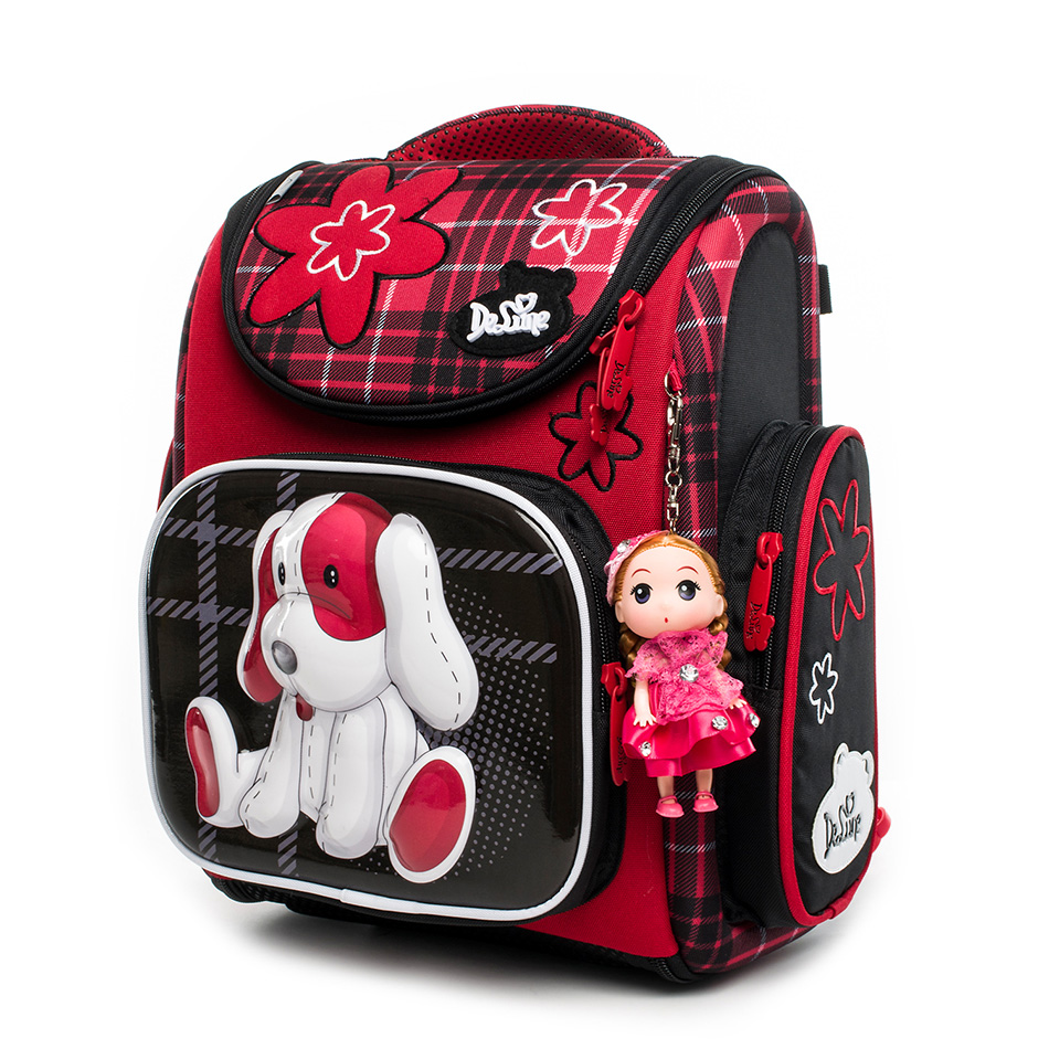 Cartoon School Bags girls Mochila Infantil bear Children Orthopedic School Backpacks for Boys Primary Schoolbag kids Grade 1-5 брюки для девочки acoola nyx цвет темно синий 20210160127 размер 158