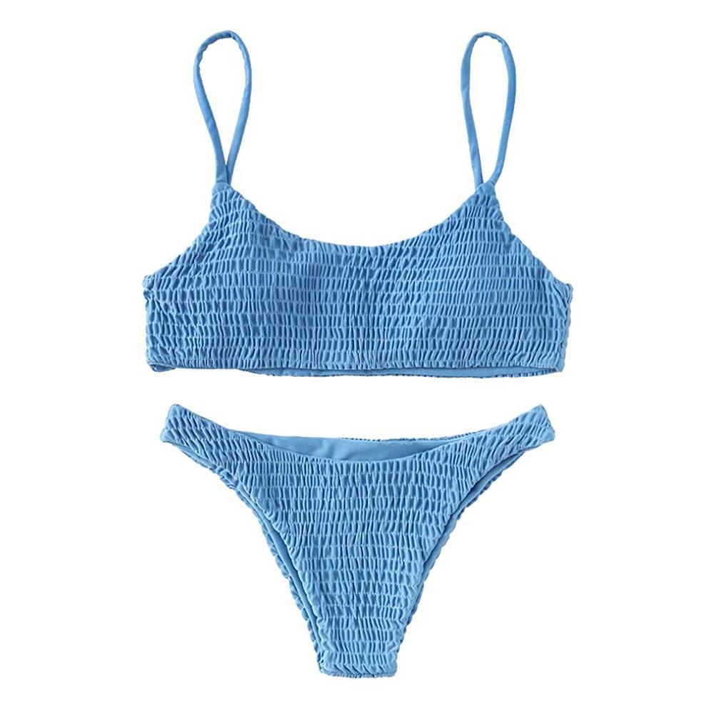 Swimsuit women Swimsuit bikini 2019 Women Bandage Push-up Padded Bra Bikini Set Swimsuit Swimwear Bathing female swimsuit fused-0