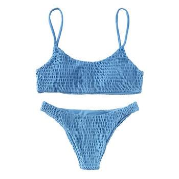 Swimsuit women Swimsuit bikini 2019 Women Bandage Push-up Padded Bra Bikini Set Swimsuit Swimwear Bathing female swimsuit fused