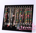 New Fashion! 1Pcs 17 Hook Jewelry Display Shelf Jewelry Frame Black Velvet Necklace Display Show Case Organizer Tray Stand