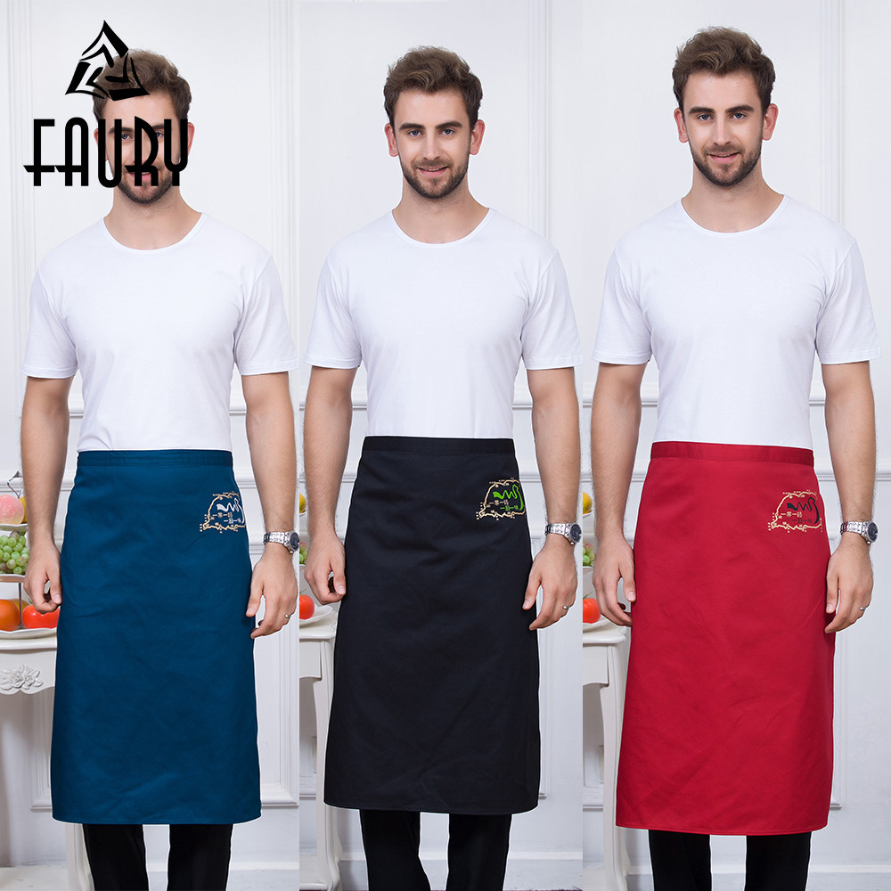 5 Colors Unisex Graphic Print Kitchen Work Wear Aprons Long Restaurant Home Cooking Wear Chef Waiter Aprons