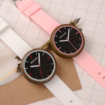 Reloj mujer madera silicona