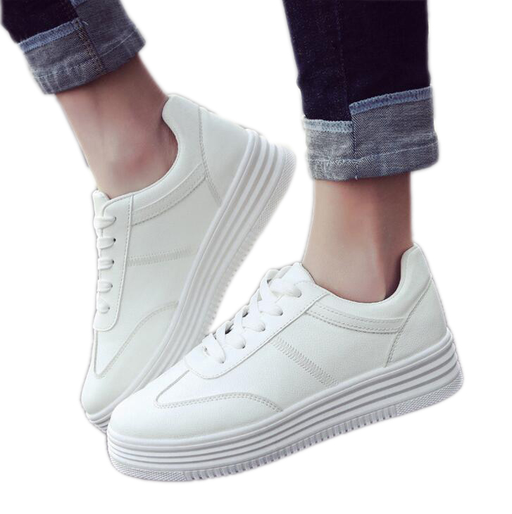 LFFZ 2019 New Women Sneakers Casual Shoes Platform Fashion Breathble Vulcanized PU leather shoes Women flats White shoes ST58LFFZ 2019 New Women Sneakers Casual Shoes Platform Fashion Breathble Vulcanized PU leather shoes Women flats White shoes ST58