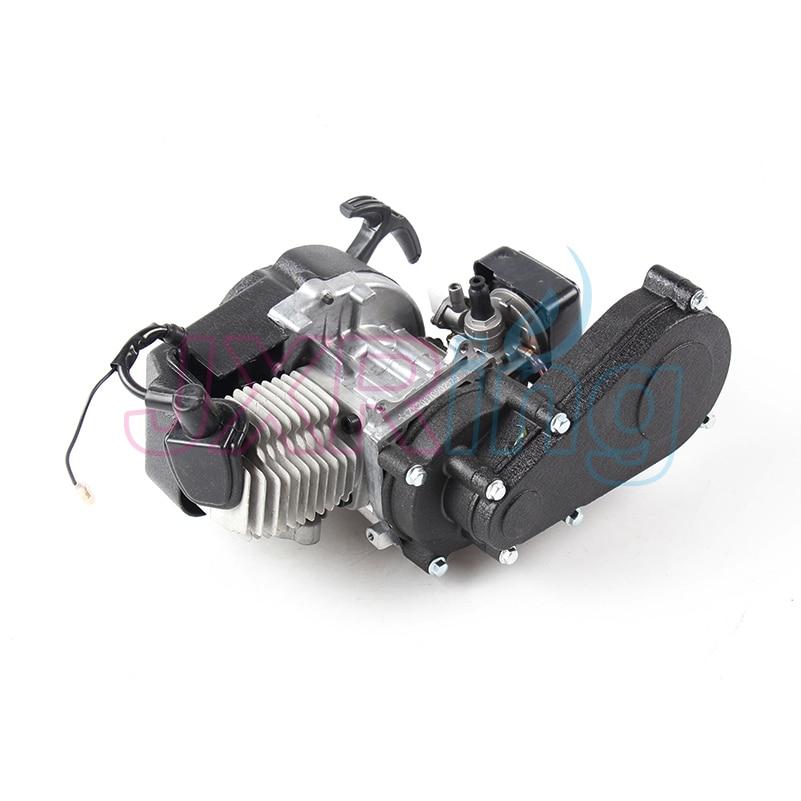 """עבור מיני Moto 2 שבץ פלסטיק 49CC מנוע למשוך E להתחיל 13 מ""""מ קרבורטור פלסטיק כיס טרקטורונים Quad באגי בור אופניים"""