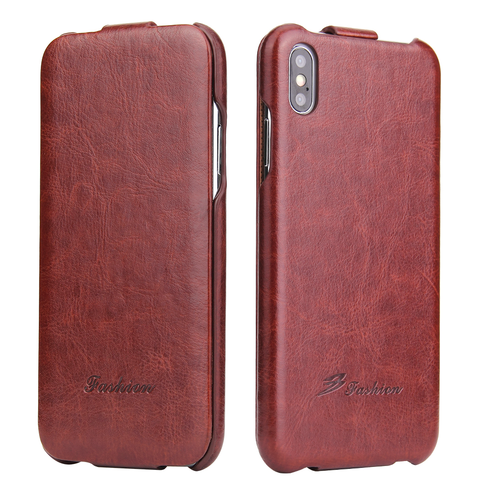 US $7 99 5% OFF|For iphone Xs max flip case Luxury Vertical Flip 64lines PU  Leather cover for iPhone X 7 /8 6 6S Up to Down shell for iphone XR-in