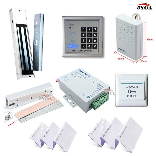 RFID система контроля доступа комплект рамка стеклянная дверь набор +  Eletric магнитный замок + ID карта a8c0fab34c630