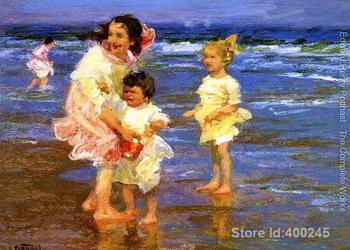 Impressionist art Cold Feet Edward Henry Potthast paintings home decor Handmade High quality