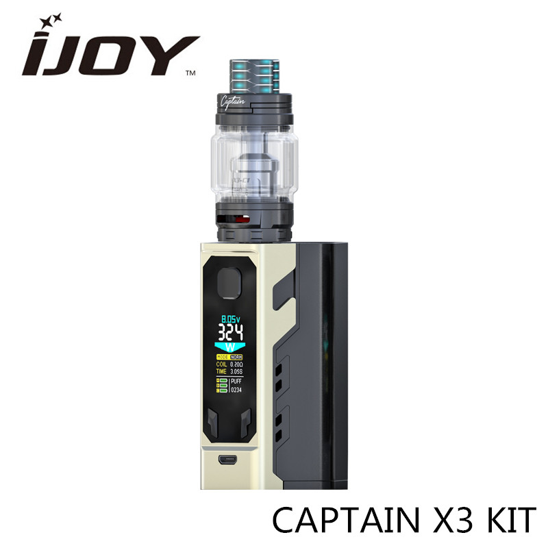 Preorder!! CAPTAIN X3 KIT Vape Box Mod Kit with IJOY 20700 batteries 9000 mAh 8ML Tank Electronic Cigarette Kit Resin Drip Tip original electronic cigarette mod vape pen smoant charon 218w tc box mod mechanical mod leather cover free shipping