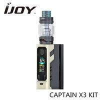 Preorder! CAPTAIN X3 KIT Vape Doos Mod Kit met IJOY 20700 batterijen 9000 mAh 8 ML Tank Elektronische Sigaret Kit Resin Drip Tip