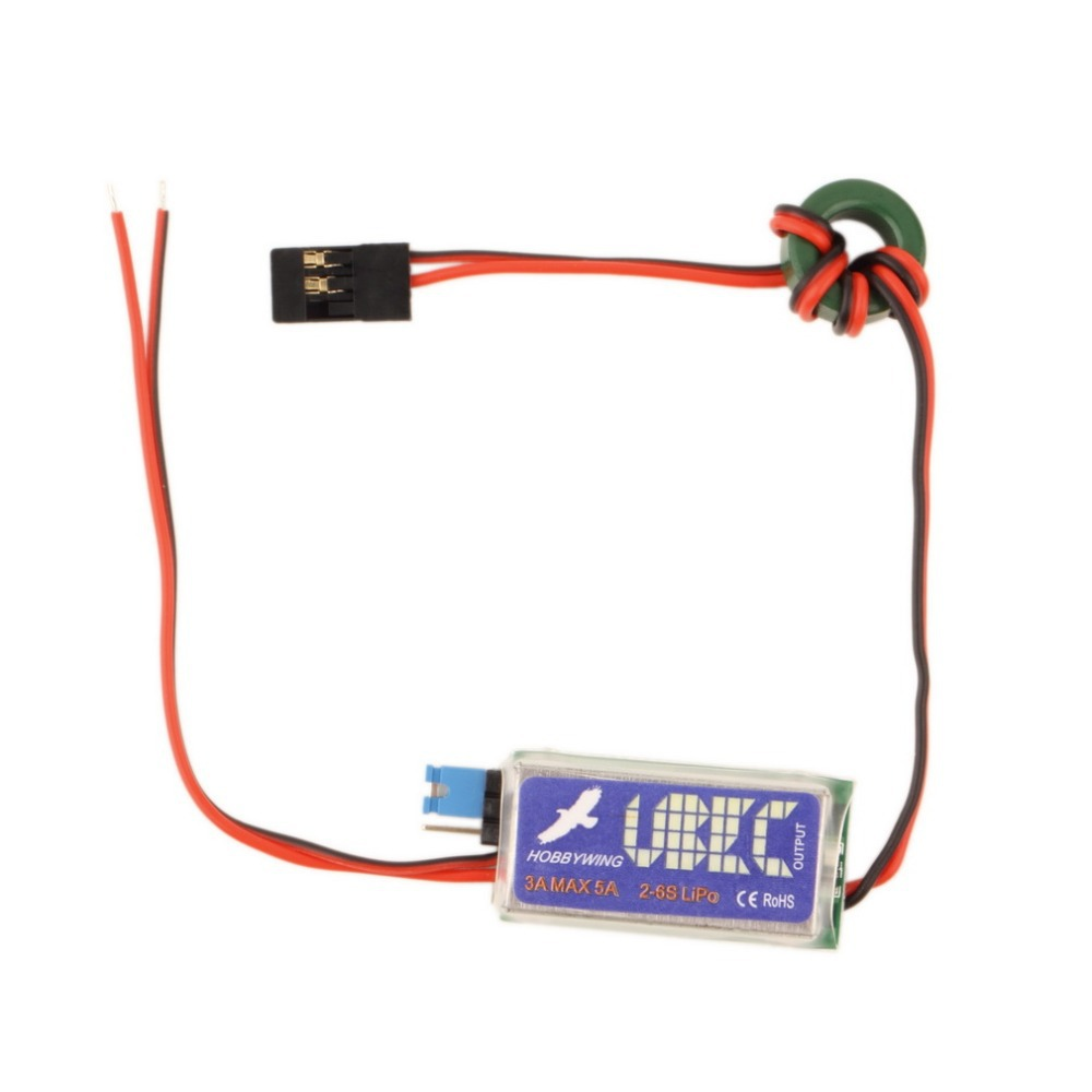 Hot  5V / 6V HOBBYWING RC UBEC 3A Max 5A Lowest RF Noise BEC Full Shielding Antijamming Switching Regulator New Sale