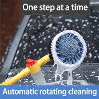 Mới nhất Tự Động Quay Car-rửa Bàn Chải Car-Gia Dụng làm sạch Bàn Giặt Di Động Dài Xử Lý Thu Vào Hot Bán