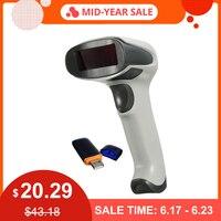 Handheld Scan Wireless Barcode Scanner Laser Barcode Bar Code Scanner Reader Cordless POS Barcode Gun Tool for Supermarket