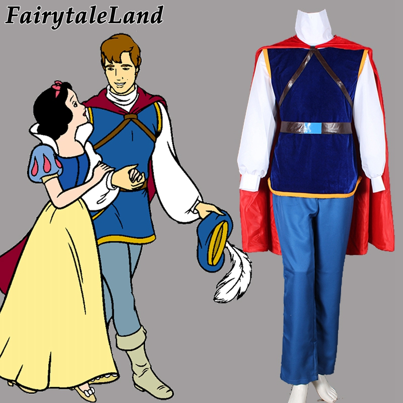 Halloween costumes for adult men snow White the handsome prince cosplay costume party Prince Handsome costume suit with cloak