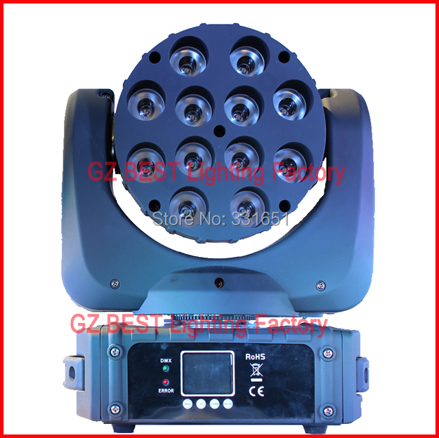DHL FEDEX express free shipping led beam moving head light rgbw 12x12w the brightest beam led lighting equipment